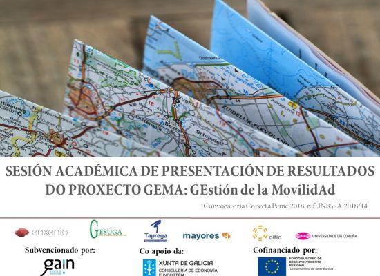 Sesión académica de presentación resultados proxecto gema gestión de la movilidad